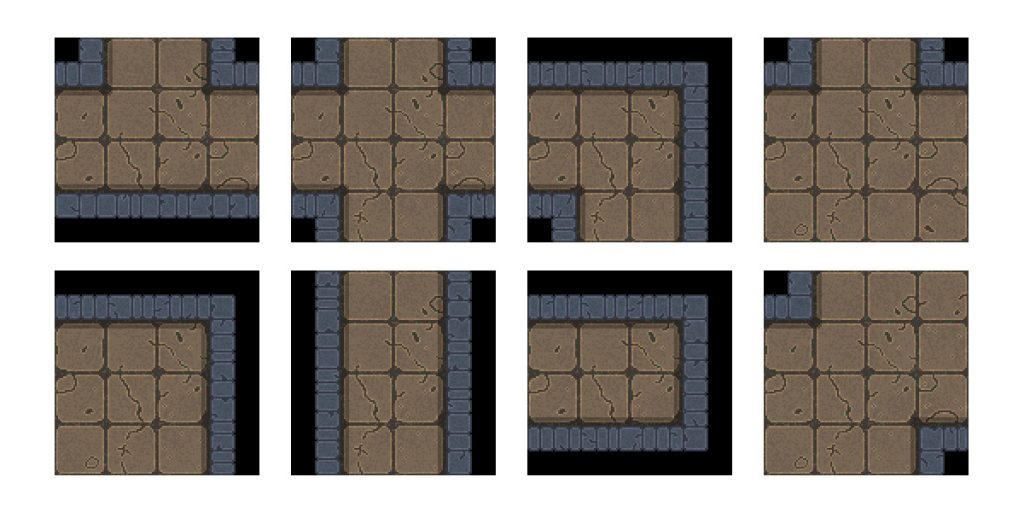 Modular dungeon tiles example